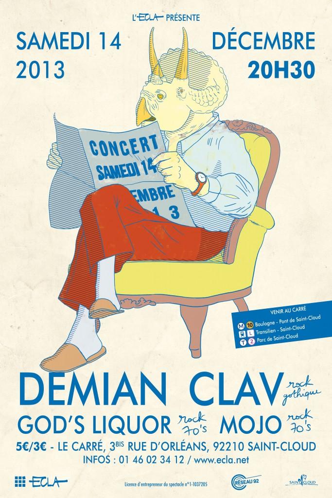 Affiche ECLA Concert 14 décembre